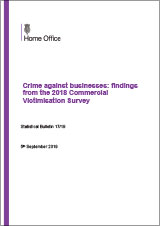 Crime against businesses: findings from the 2018 Commercial Victimisation Survey