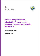 Detailed analysis of fires attended by fire and rescue services, England, April 2018 to March 2019