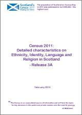 Census 2011: Detailed characteristics on Ethnicity, Identity, Language and Religion in Scotland - Release 3A