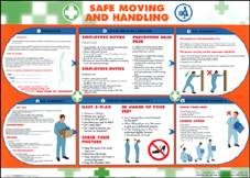 manual handling health and safety poster rh dandybooksellers com Manual Handling Techniques Aged Care Manual Handling Posters